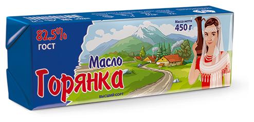 Горянка Масло сливочное 82.5%, 450 г