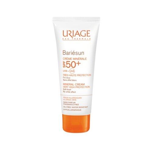 Uriage крем Bariesun минеральный для хрупкой аллергичной кожи, SPF 50, 50 мл uriage крем минеральный spf 30 тюбик барьесан 100 мл