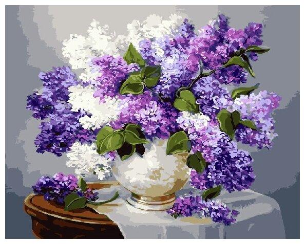 Купить Картины по Номерам на Холсте 40 х 50 см Цветы - Сирень Холст на Подрамнике по низкой цене с доставкой из Яндекс.Маркета (бывший Беру)