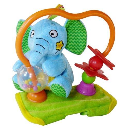 Купить Подвесная игрушка Biba Toys Слоненок (BR499) голубой/зеленый, Подвески