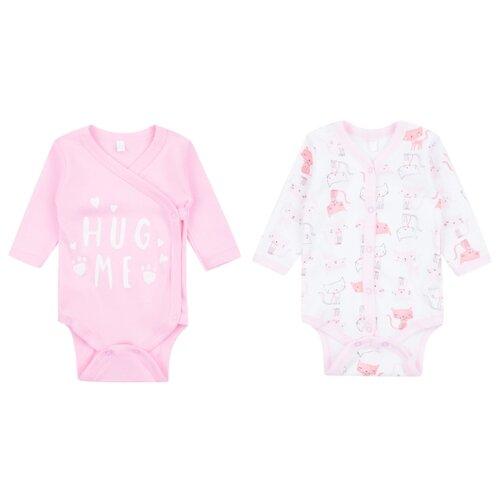 Купить Боди Leader Kids размер 68, белый/розовый