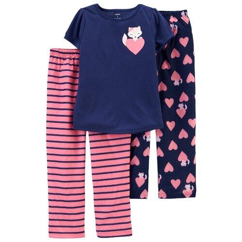 Пижама Carter's размер 8, розовый/синий