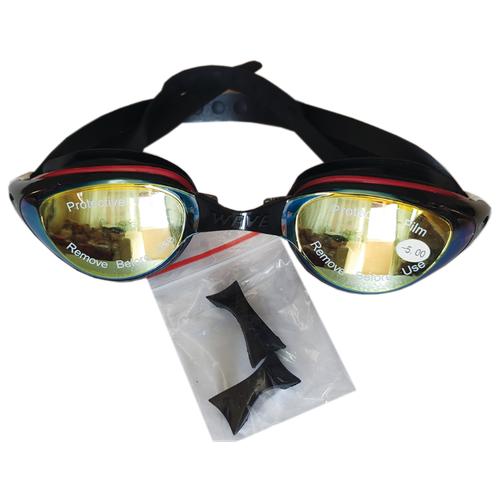 Очки для плавания Wave с диоптриями -5.0 очки для плавания mad wave spurt rainbow azure white