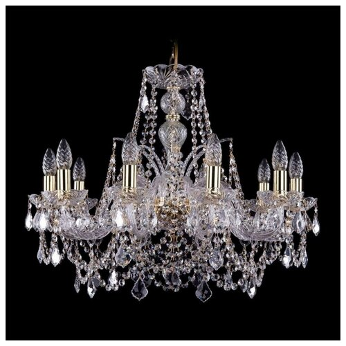 Фото - Люстра Bohemia Ivele Crystal 1411 1411/10/240/G/Leafs, E14, 400 Вт люстра bohemia ivele crystal 1411 1411 6 141 g e14 240 вт