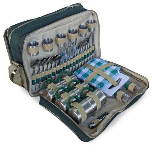 Набор для пикника Green Glade T3653, 47 предметов серебристый/зеленый по цене 6 128
