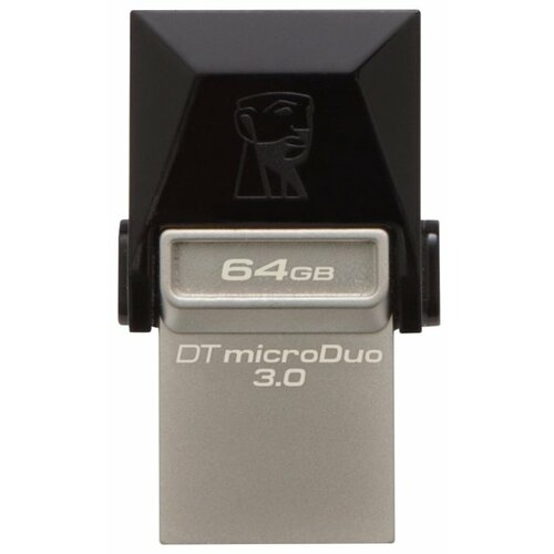 Флешка Kingston DataTraveler microDuo 3.0 64GB черный фото