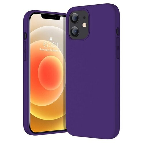 Krutoff / Чехол-накладка Krutoff Silicone Case для iPhone 12 mini (Айфон 12 мини) фиолетовый