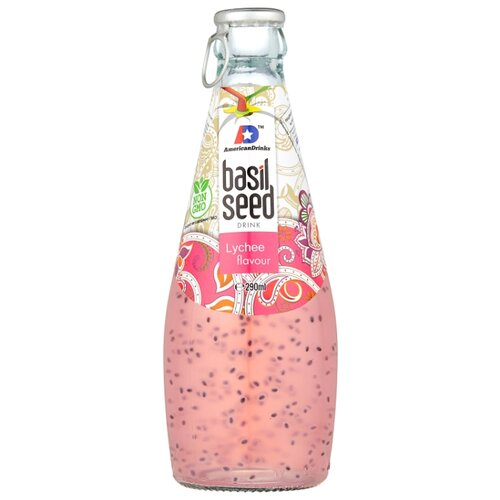 цена Напиток сокосодержащий Basil Seed Личи, 0.29 л онлайн в 2017 году
