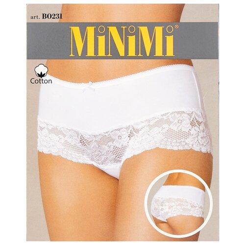 MiNiMi Трусы Трусы-шорты средней посадки с кружевом, размер 50/XL, телесный (nudo) трусы шорты no romeo