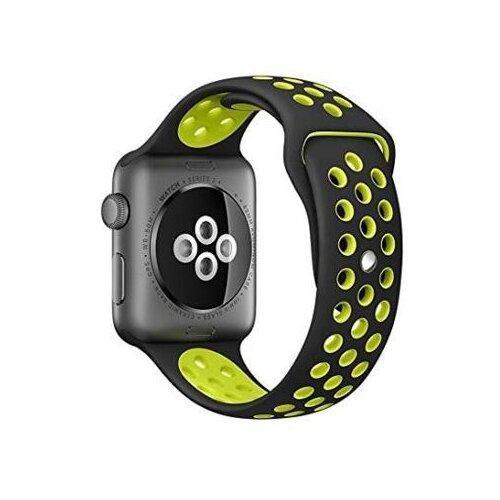 Фото - EVA Ремешок спортивный для Apple Watch 42/44mm черный / зеленый eva ремешок спортивный для apple watch 42 44mm розовый
