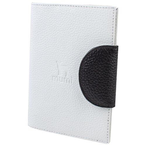 Обложка для паспорта Mumi белый 160-24, натуральная кожа