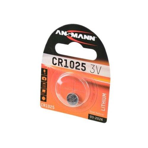 Батарейка ANSMANN CR1025 1 шт блистер батарейка ansmann cr2025 1 шт блистер