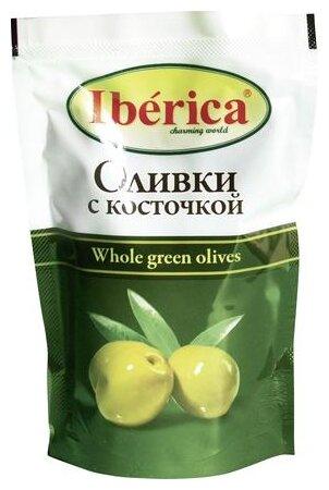 Iberica Оливки с косточкой в рассоле, вакуумный пакет 170 г