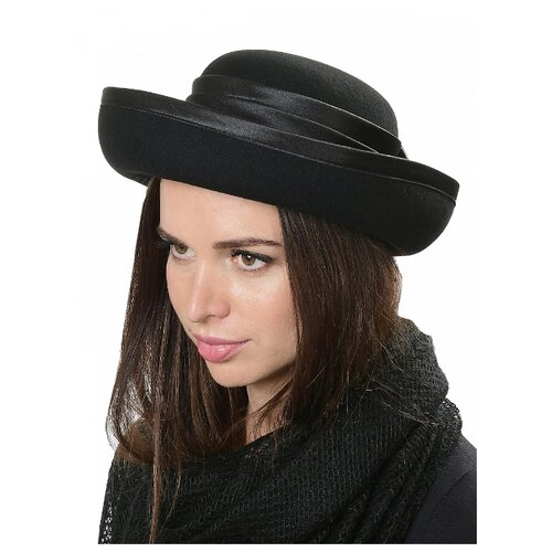 Щелково-фетр 71/1-56 Шляпа женская мод.А71/1 цвет черный р 56