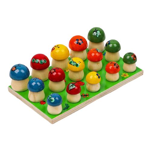 Счетный материал Деревянные игрушки Грибы на поляне 1002