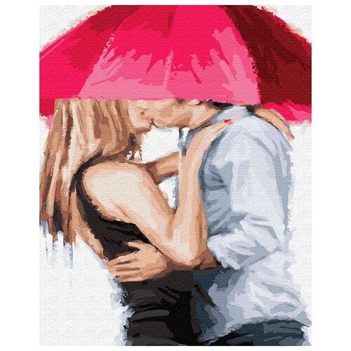 Купить Картина по номерам ВанГогВоМне ZX 22310 Поцелуй под зонтом 40х50 см, Картины по номерам и контурам