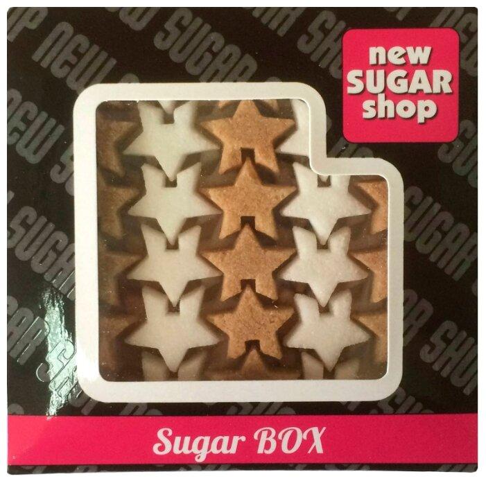 New SUGAR shop фигурный Sugar BOX Звёздочки сахарные тростниковые и белые