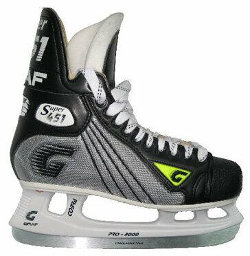 Коньки хоккейные graf supra 451 cobra 2000 jr