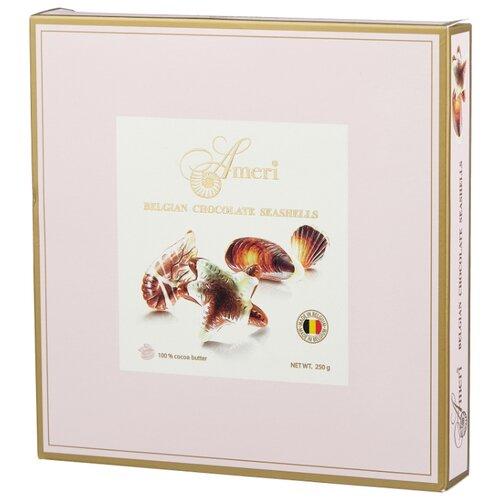 Набор конфет Ameri Цветы шоколадные конфеты-ракушки с начинкой пралине 250 г сладкая сказка рождественская дверь красная шоколадные конфеты 400 г