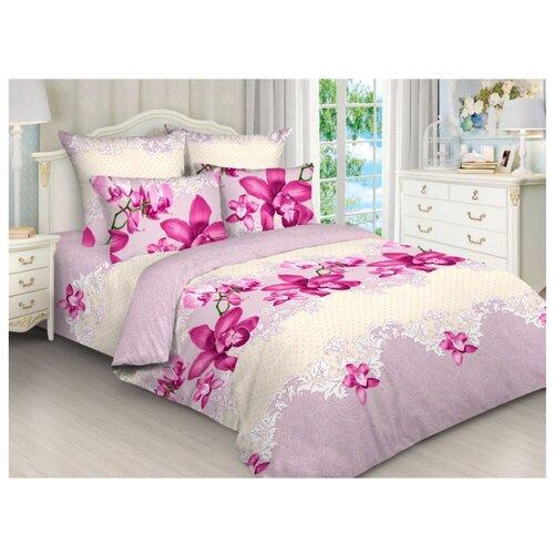 Постельное белье 2-спальное с евро простыней Toontex 5178 евробязь розовыйКомплекты<br>