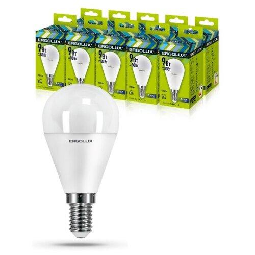 Фото - Светодиодная Лампа Ergolux LED-G45-9W-E14-6K упаковка 10 шт светодиодная лампа ergolux led g45 11w e27 6k упаковка 10 шт