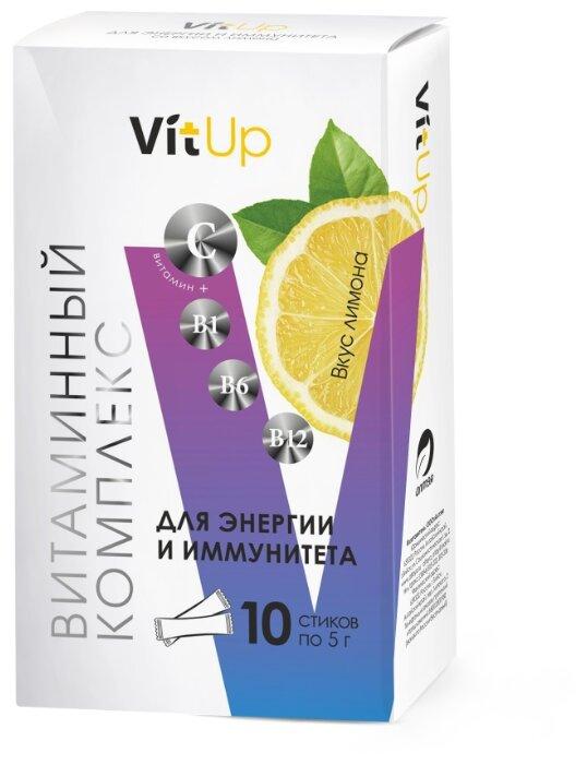VitUp Витаминный комплекс для энергии и иммунитета со вкусом лимона пор. д/приг. напитка пак. №10 — купить по выгодной цене на Яндекс.Маркете