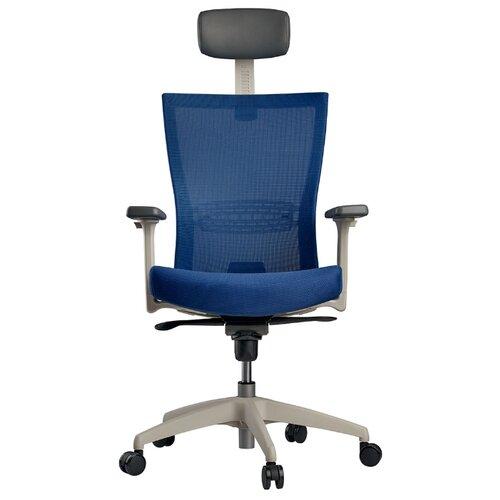 Эргономичное компьютерное кресло Schairs AIRE-101W BLUE