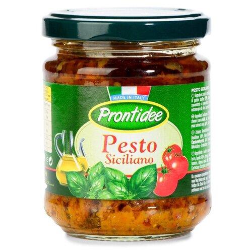 Фото - Соус Prontidee Песто по-сицилийски с сушеными томатами 180 г соус песто этна 180 г