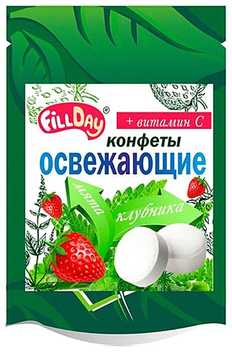Конфеты освежающие FillDay с клубничным соком и витамином С 20 г