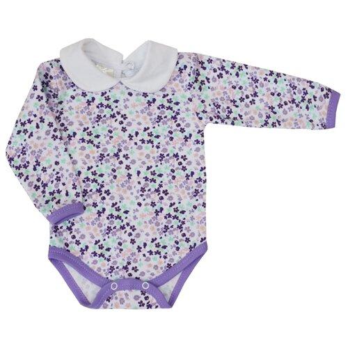 Боди KotMarKot размер 68, белый/фиолетовый свитшот kotmarkot размер 68 серый фиолетовый