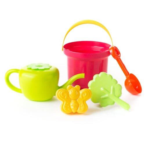 Купить Набор Росигрушка Яблочко 4127 зеленый/желтый/розовый/красный, Наборы в песочницу