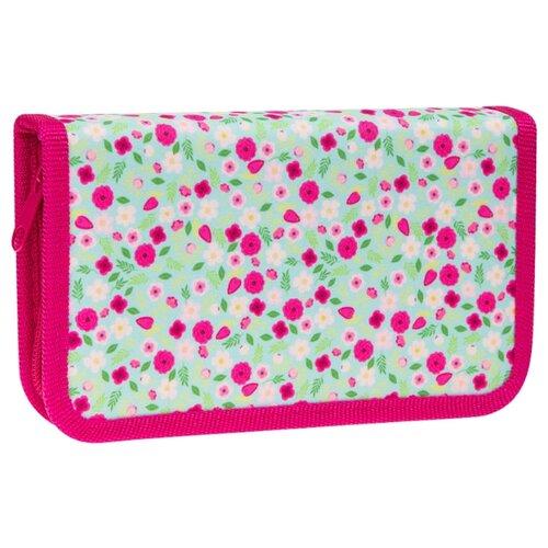 Купить ArtSpace Пенал Нежные цветы (ПК3-20_23075) зеленый/розовый, Пеналы