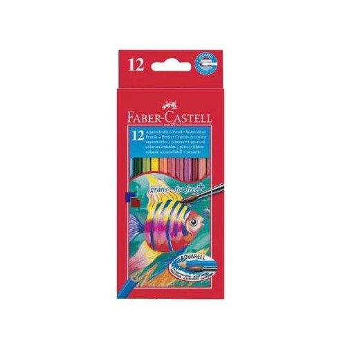 Купить Faber-Castell Карандаши акварельные Fish Design 12 цветов (114413), Цветные карандаши