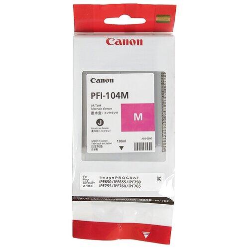 Фото - Картридж Canon PFI-104M (3631B001) картридж canon pfi 206 g для ipf6400 6450 зеленый