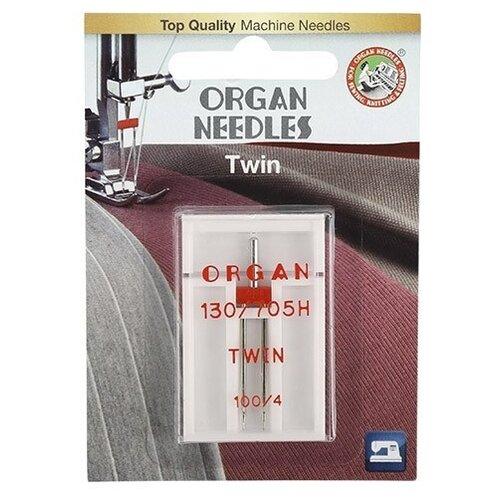Игла/иглы Organ Twin 100/4 серебристый