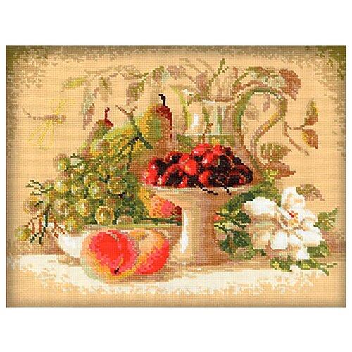 Купить Риолис Набор для вышивания Натюрморт с черешней 30 х 24 см (1085), Наборы для вышивания