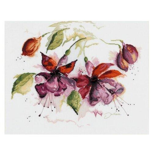 Купить Lanarte Набор для вышивания Фуксия в акварели 29 x 39 см (0008026-PN), Наборы для вышивания