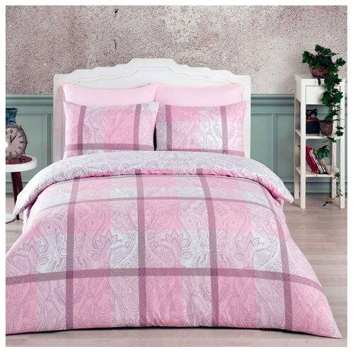 Постельное белье 1.5-спальное Arya Vermont, ранфорс розовый полотенца arya комплект из 6 ти полотенец arya birdy 30 30 см бело розовый