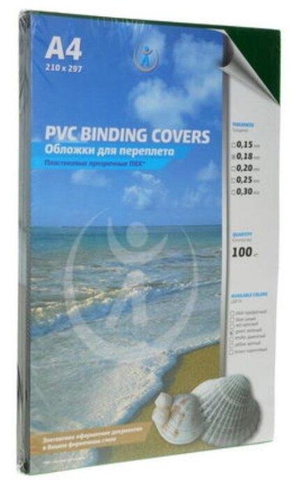 Купить Обложечный лист А4 ПВХ прозрачный 0,18 мм, бесцветный, глянцевый, 100 листов по низкой цене с доставкой из Яндекс.Маркета