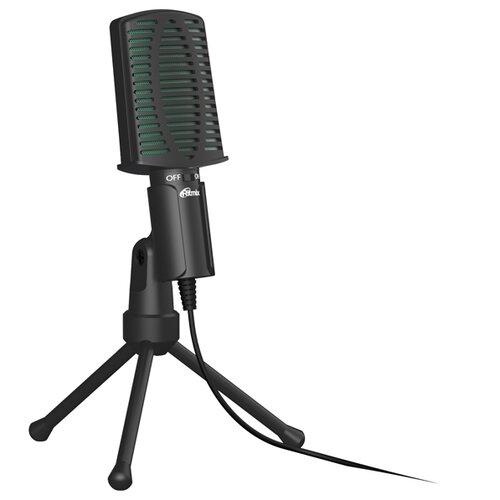 Микрофон Ritmix RDM-126, черный/зеленый
