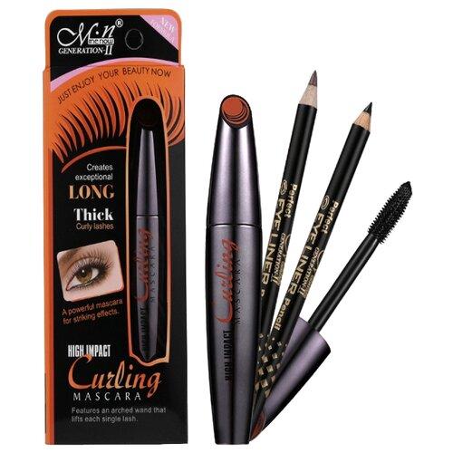 Menow Набор для макияжа: тушь для ресниц Curling Mascara и 2 карандаша для бровей