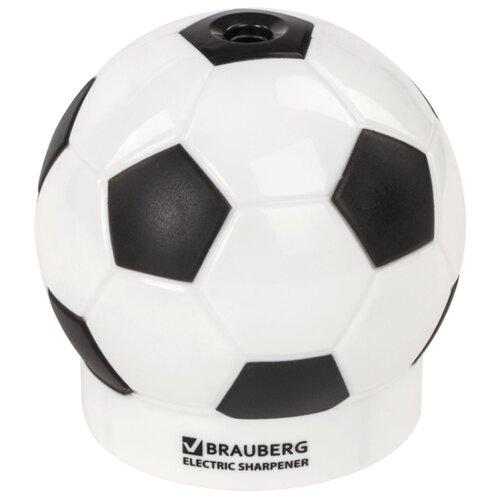 Купить BRAUBERG Точилка электрическая Football 228427 черно-белый, Точилки