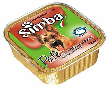 Корм для собак Simba Паштет для собак Телятина и горошек (0.15 кг) 24 шт.