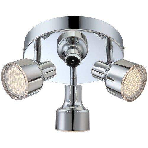 Спот Globo Lighting Rois 56213-3, кол-во ламп: 3 шт., цвет арматуры: серебристый, цвет плафона: серебристый недорого