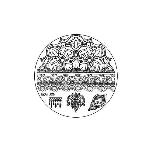 Трафарет EL Corazon EC-s 526 5.6 х 5.6 см silver