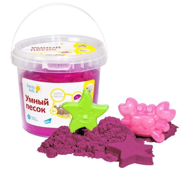 Кинетический песок Genio Kids Умный с формочками