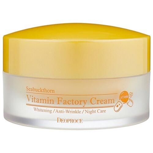Deoproce Seabuckthorn Vitamin Factory Cream крем для лица ночной омолаживающий, 100 г крем для век омолаживающий 40г deoproce herb gold
