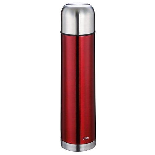 Термос COLORE от Cilio, 1 л, d-8 см, h-32 см, красный, сталь