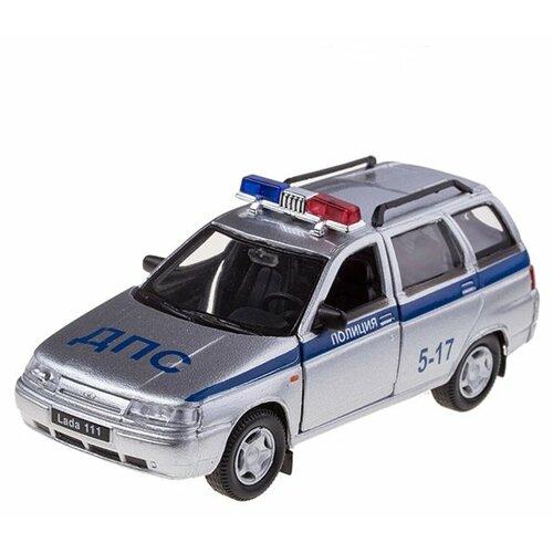 Легковой автомобиль Autogrand Lada 111 милиция (2641) 1:36 11.5 см серебристый/синий