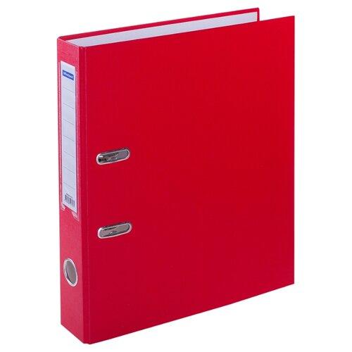 Купить OfficeSpace Папка-регистратор с карманом на корешке A4, бумвинил, 70 мм красный, Файлы и папки